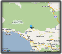 Google Map to BMD Landscape Architect office in Ojai Valley, California.